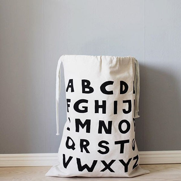 Alphabet Canvas Storage Bag