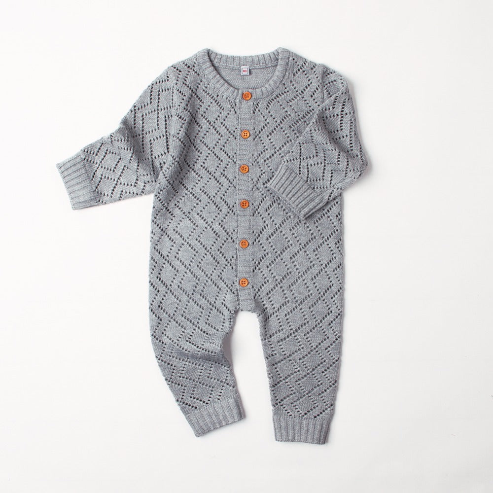 Diamond Pattern Knitted Jumpsuit