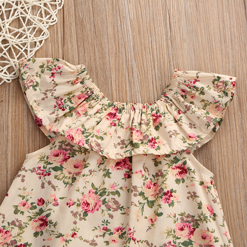 Floral Top and Bow Bloomers Set