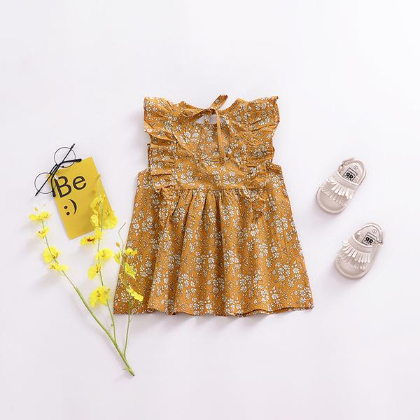 Frill Floral Vintage Summer Dress