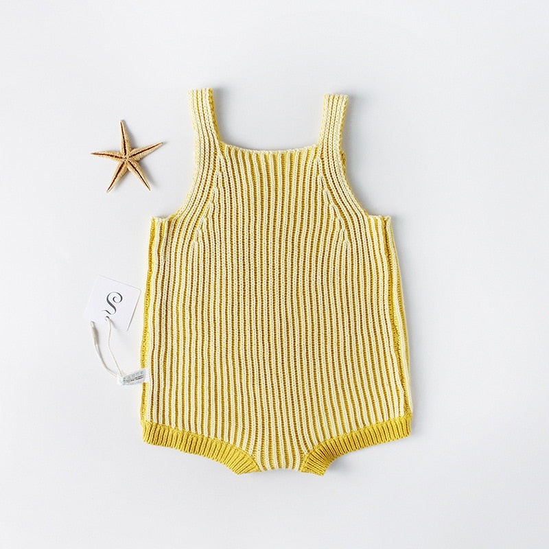 Summer Stripe Knitted Romper
