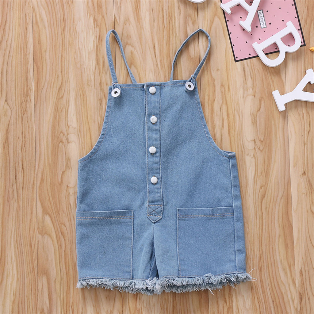 Cute Summer Denim Overalls