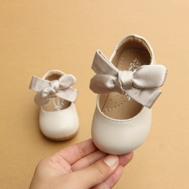 Soft Leather Baby Princess Pumps