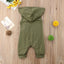 Hooded Khaki Sleeveless Jumpsuit