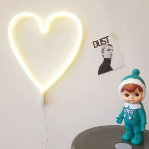Neon Heart Night Light