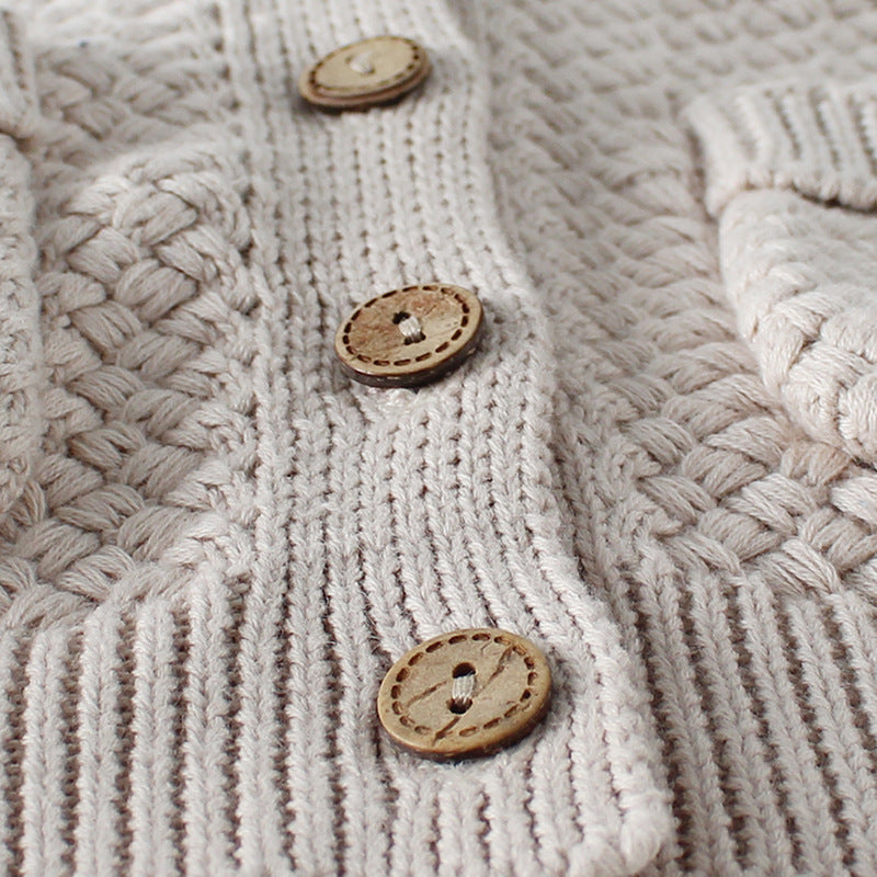 Chunky Square Knit Cardigan