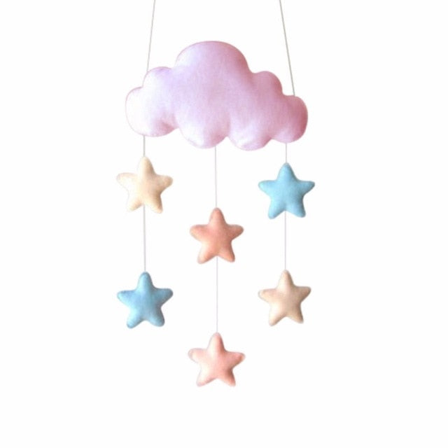 Hanging Star and Hearts Felt Mobile