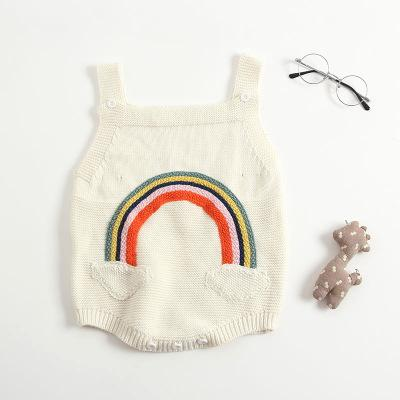 Knitted Rainbow Romper