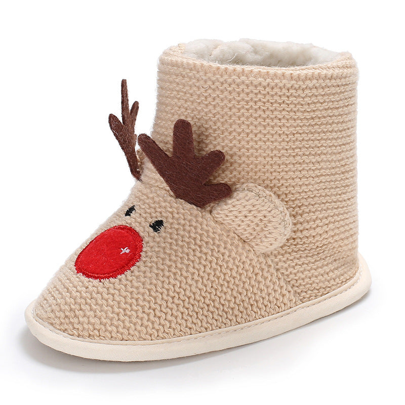 Rudolph the Reindeer Christmas Knitted Boots