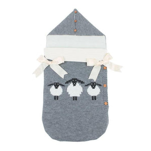 Newborn Knitted Sheep Sleep Sack