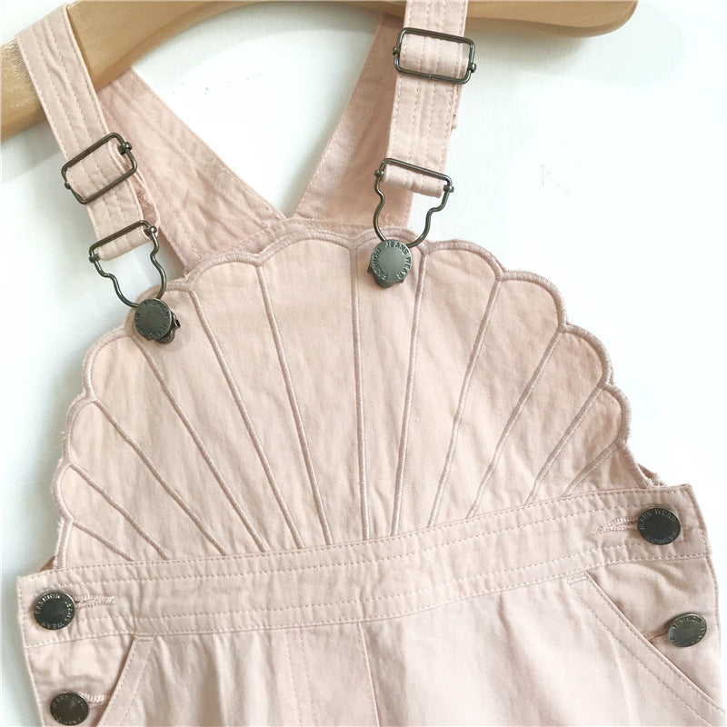 Limited Edition Embroiderd Seashell Overalls Dress
