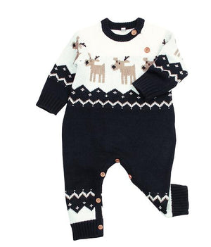 Knitted Reindeer Christmas Jumpsuit