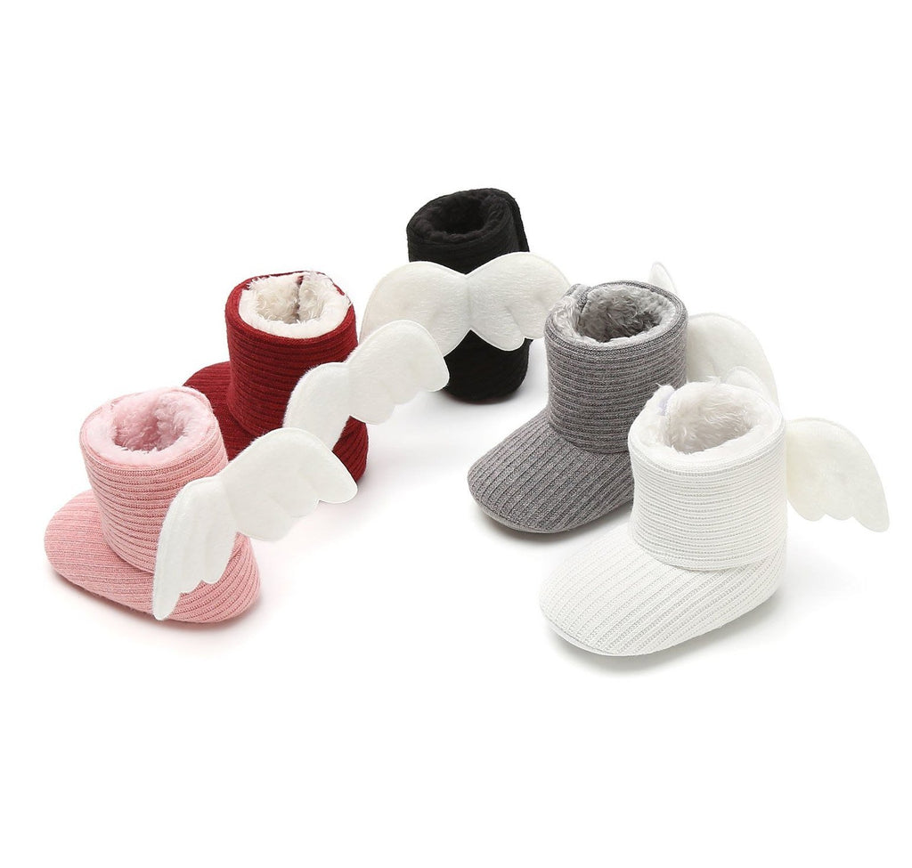Baby Angel Wings Knitted Booties