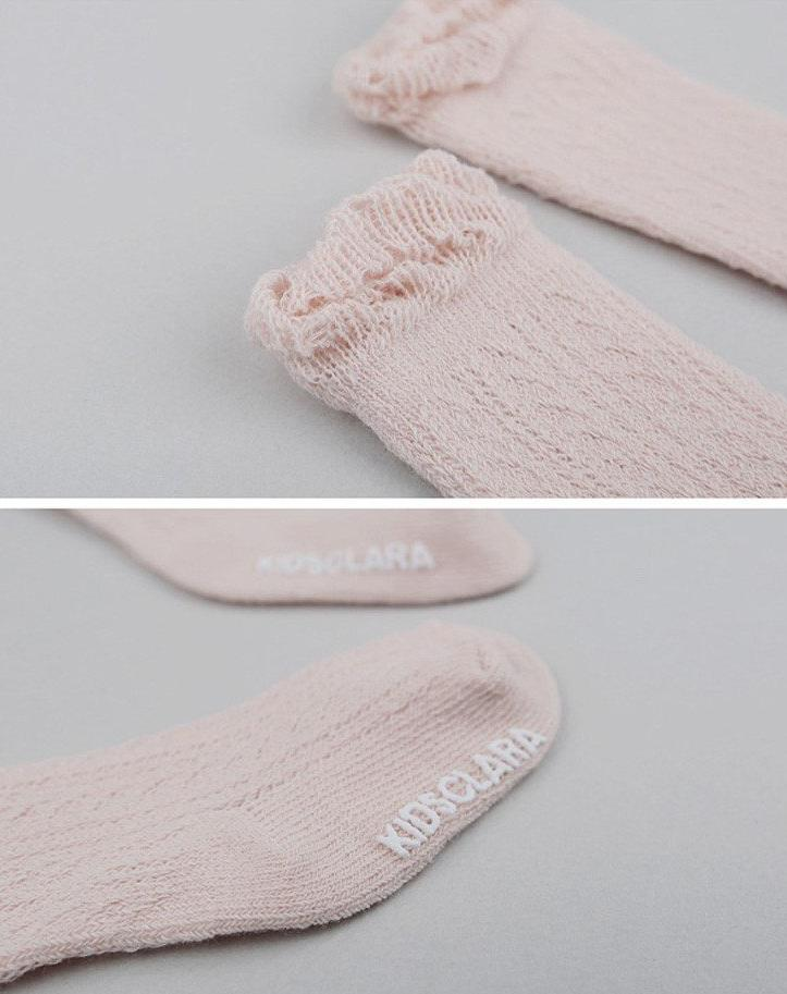 Knee-High Lace Baby Socks