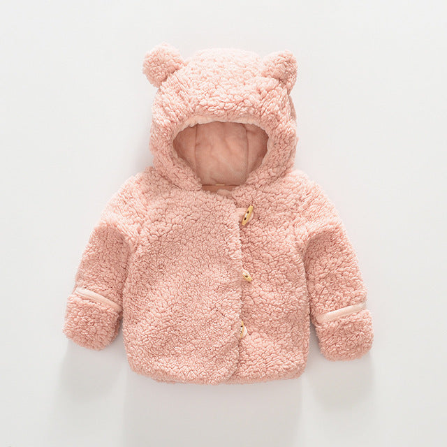 Baby Bear Fleece Jacket with Mitten Hand Warmers
