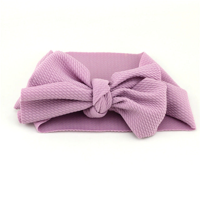 Large Textured Bow Headband, Various Colors