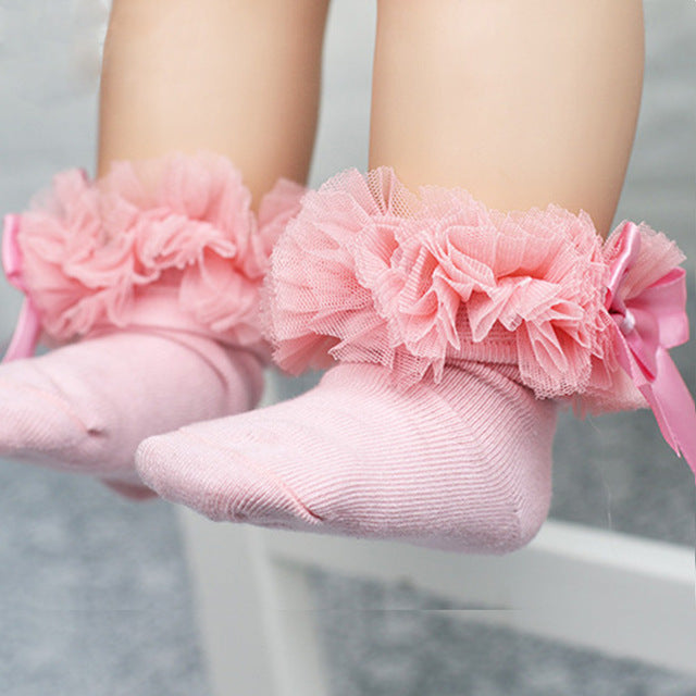 Lace Princess Bow Socks
