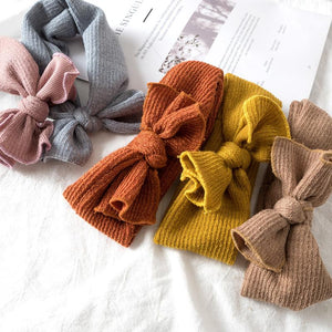 Soft Rib Knit Bow Headband