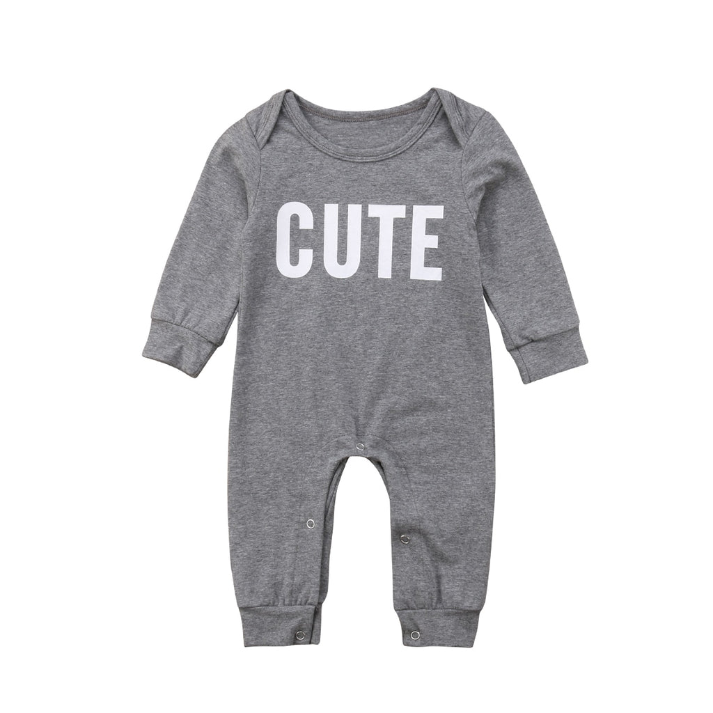 Cute Gray Baby Jumpsuit