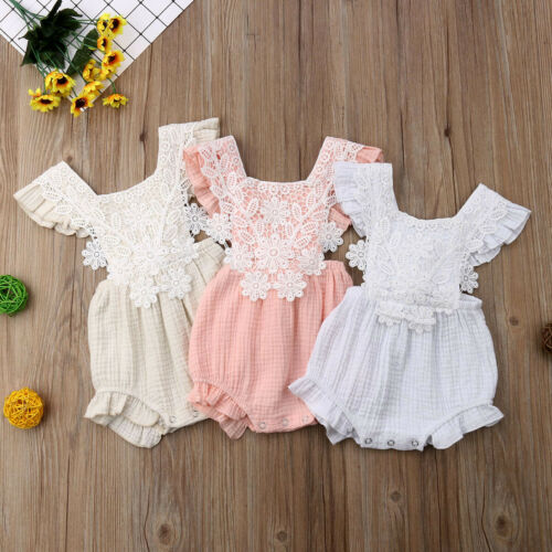 Lace Floral Ruffle Romper