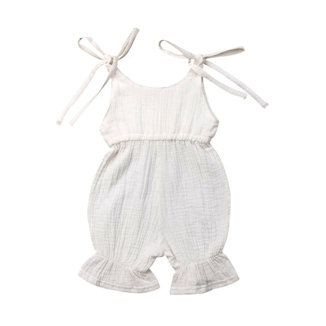 Cute Baby Tie Straps Sunsuit