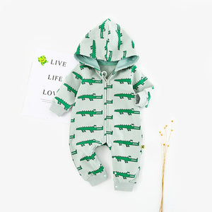 Crocodile Hooded Jumpsuit