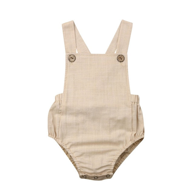 Basics Natural Unisex Cross-Back Romper