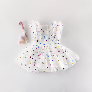 Polka Dot Shimmer Princess Dress