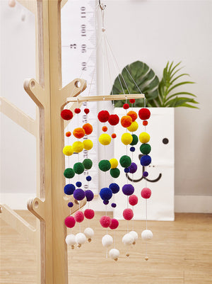 Feather Ball Hanging Crib Mobile