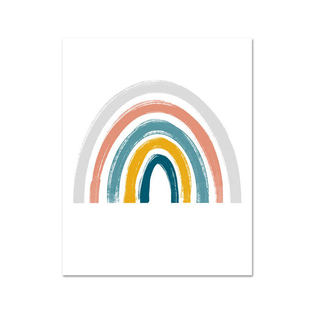 Sunshine, Rainbow & Cloud Wall Canvas Prints, Various Sizes