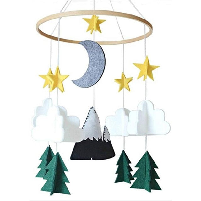 Starry Night Woodland Crib Mobile