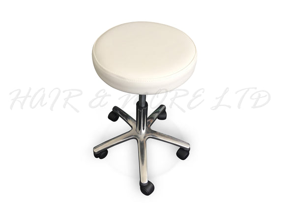 Hydraulic Salon Stool - White