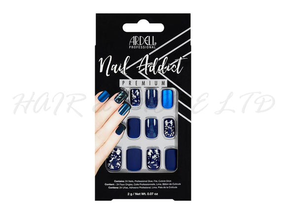 Ardell Nail Addict, Matte Blue - 24 Pack