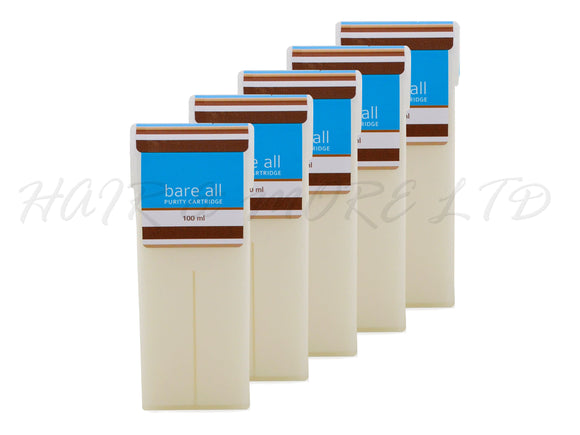 Bare All Coconut Purity Strip Wax Cartridge 100ml x 5