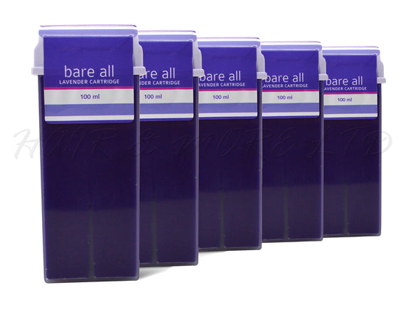 Bare All Lavender Cartridge Strip Wax 100ml x 5