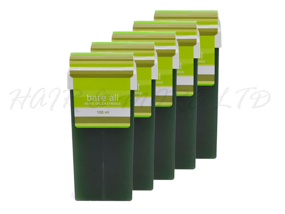 Bare All Olive Oil Cartridge Strip Wax 100ml x 5