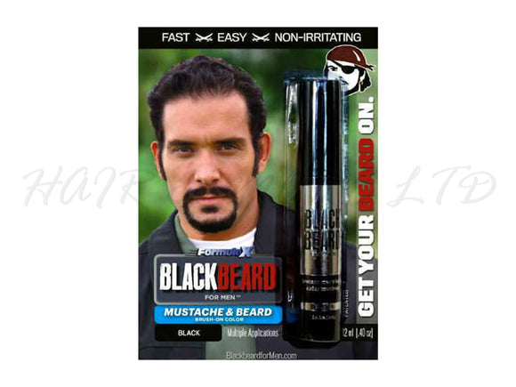 Blackbeard for Men, Brush on Mustache & Beard Colour - Black
