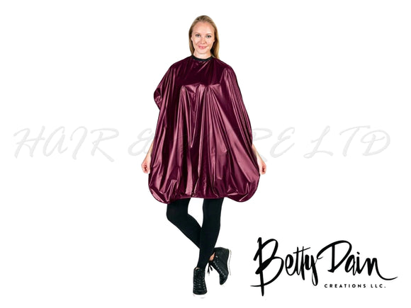 Betty Dain Jumbo Shampoo/Cutting Cape - Burgundy