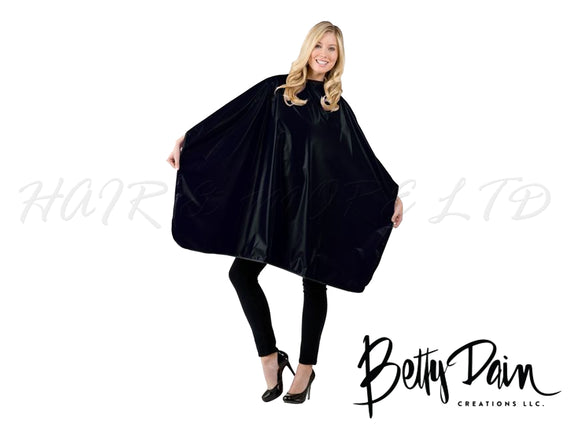Betty Dain Jumbo Shampoo/Cutting Cape - Black