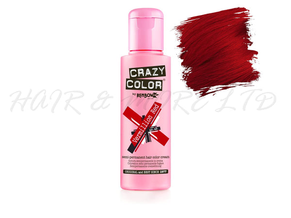 Crazy Colour - Vermillion Red