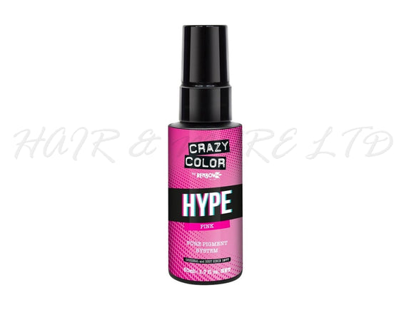 Crazy Color Hype Pure Pigments - Pink 50ml (High Concentration Colour)