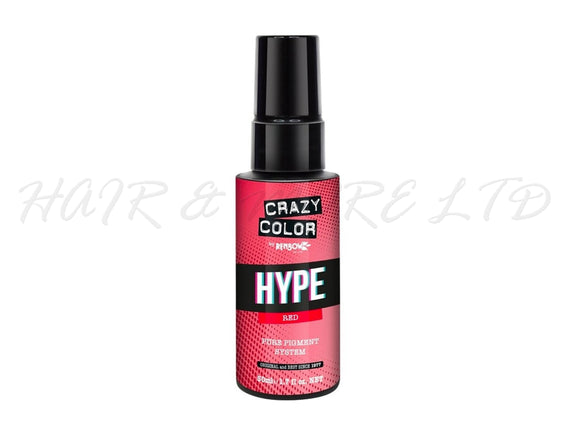 Crazy Color Hype Pure Pigments - Red 50ml (High Concentration Colour)