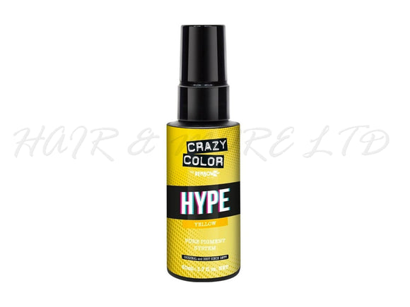Crazy Color Hype Pure Pigments - Yellow 50ml (High Concentration Colour)