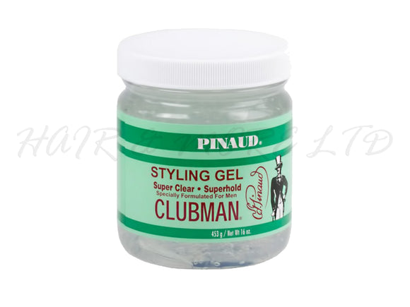 Pinaud Clubman Mens Super Hold Super Clear Styling Gel 453gTub