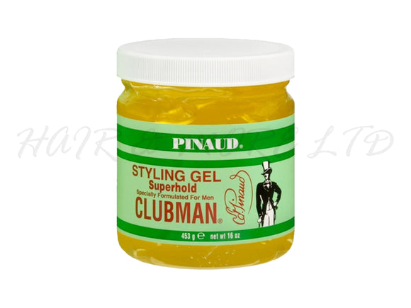 Pinaud Clubman Mens Super Hold Styling Gel 453g Tub