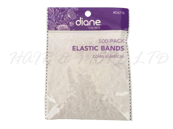 Diane Bulk Hairdressing Clear Hair Bands - 500 Pack