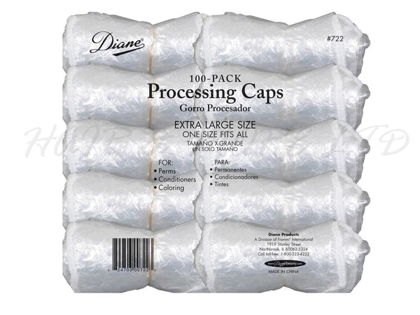 Bulk Plastic Processing Caps, 100 pack