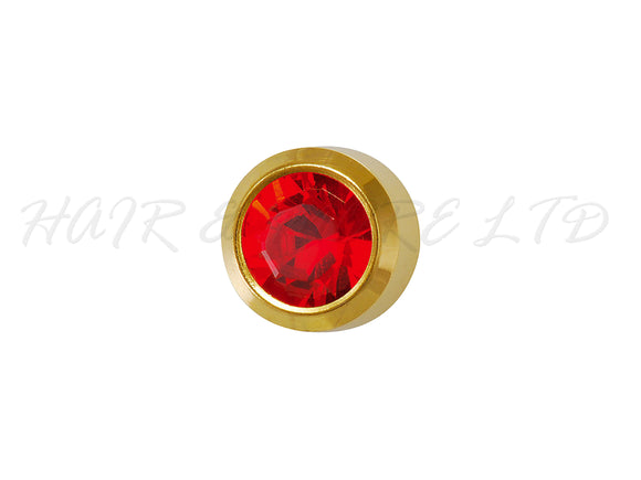 Studex Gold Plated Birthstone Earrings, 1 Pair - July (Ruby)