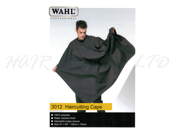 WAHL Professional Polyester Haircutting Cape - Black