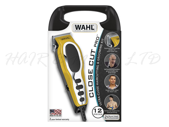 Wahl Close Cut Pro Clipper Kit 12pce Kit - Made in the USA